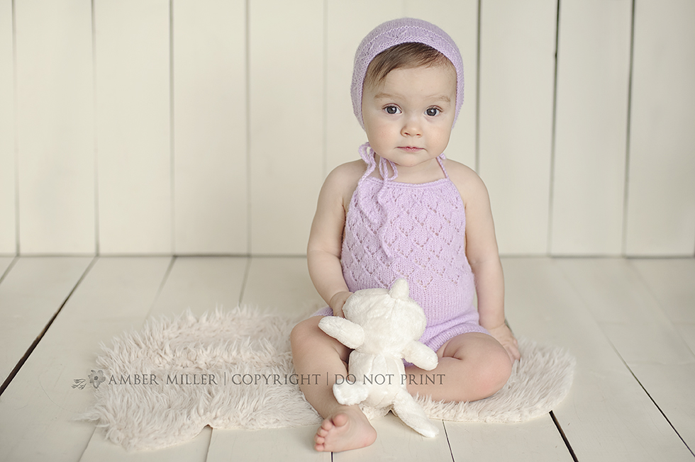 baby girl, purple, bunny, utah photography