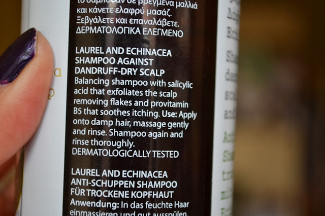 Korres Shampoo against dandruff and dry scalp with Laurel and Echinacea