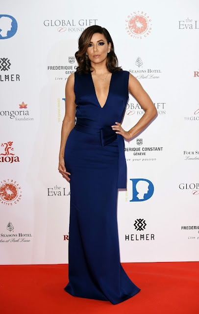 Actress, Model, @ Eva Longoria attends The Global Gift Gala at Four Seasons Hotel in London