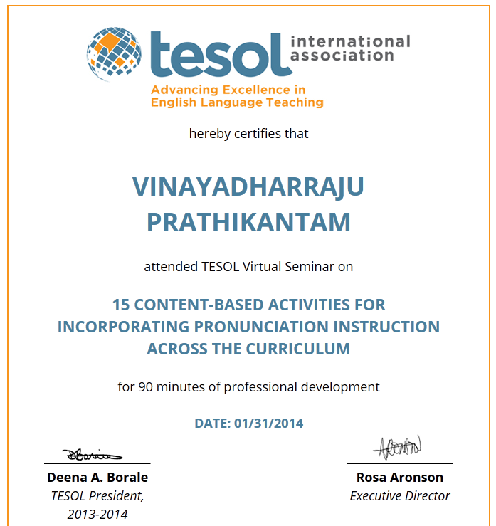 "TESOL Virtual Seminar ""15 Content-Based Activities for Incorporating Pronunciation Instruction Across the Curriculum,"""