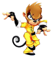 Donwload imagem Mascotes Macaco+Karate