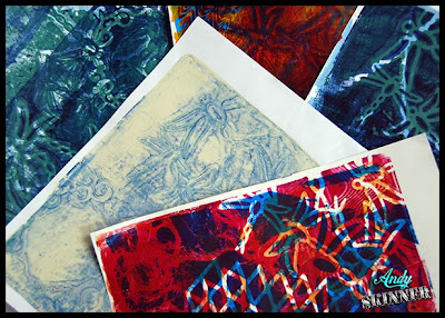 Andy Skinner Decoart Gelli plate prints