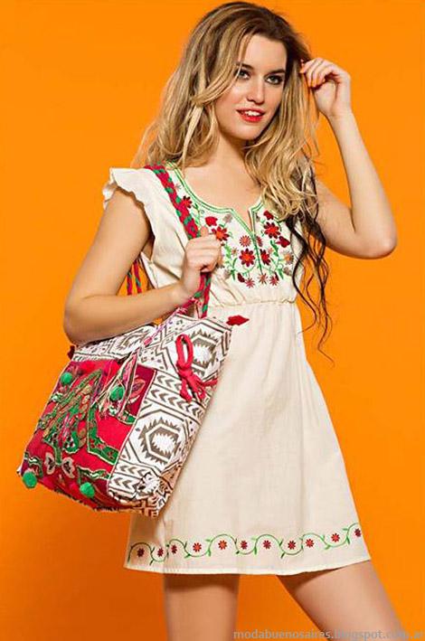 Moda verano 2015 vestidos Sophya.