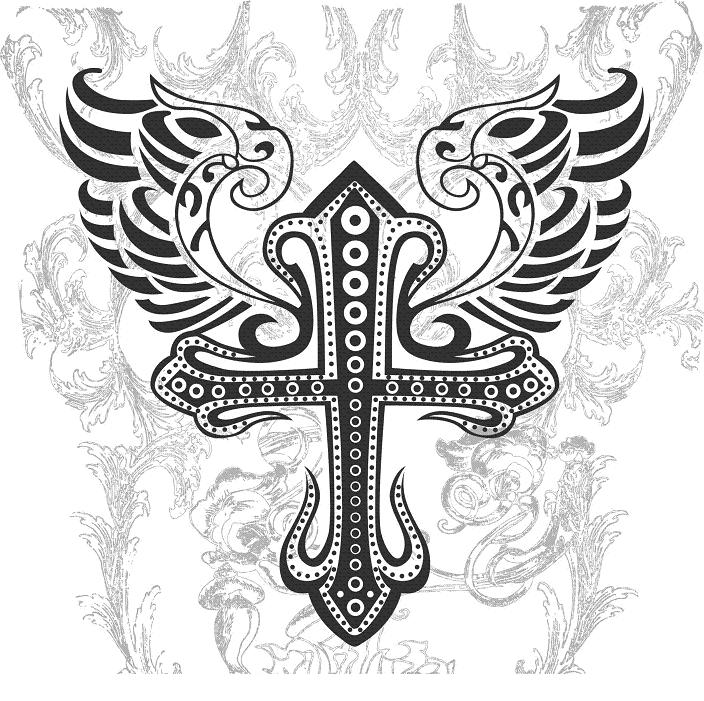 armband cross tattoo. star armband tattoos
