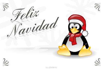 Feliz navidad estilo linux