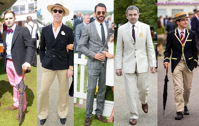 Linen suits at Glorious Goodwood