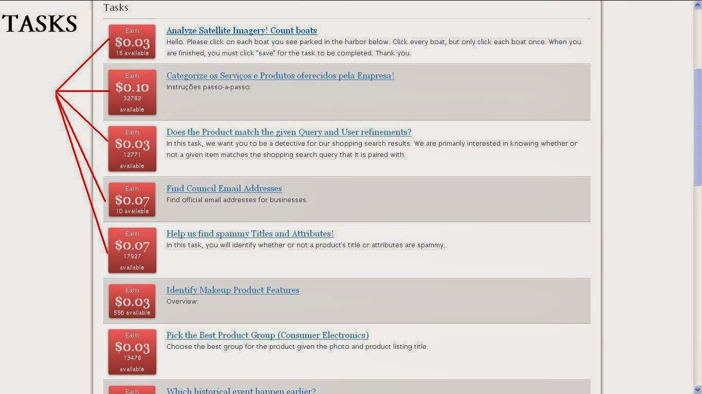 """Click On The €�tasks"""" Andplete As Much As Tasks You Likeyou Can Earn  $1$10 Daily Bypleting Tasks"""