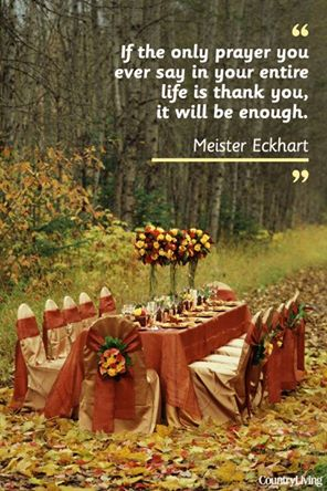 Happy Thanksgiving to each of you