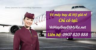 Vé máy bay đi Mỹ hãng Qatar Airways