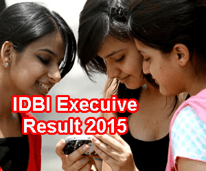 IDBI Executive Exam Result 2015 Declared at www.idbi.com, IDBI Bank Executive Results 2015 Declared in July 3rd week, 2015. IDBI Executive Score Card 2015, IDBI Conducts Executive Exam on 11 July 2015 and Results Released on July 24. IDBI Executive Result 2015 Score Card