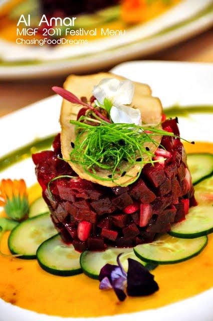 Chasing food dreams migf 2011 al amar lebanese cuisine for Al amar lebanese cuisine