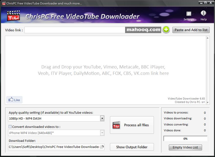網路影片下載器軟體推薦:ChrisPC Free VideoTube Downloader 免安裝版下載