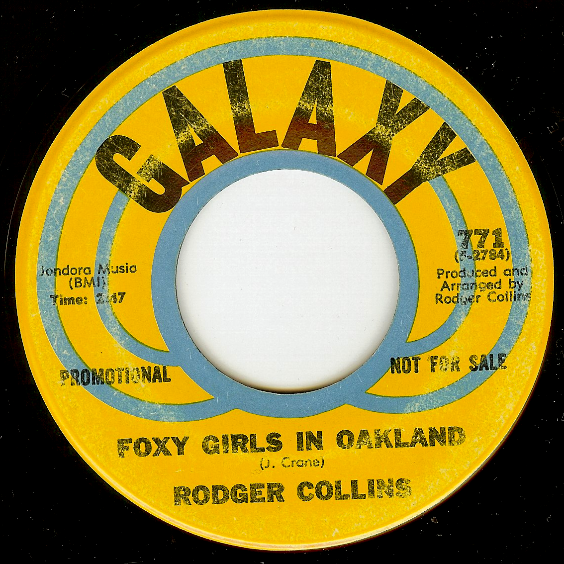 Rodger Collins - Foxy Girls In Oakland / All To'e Down