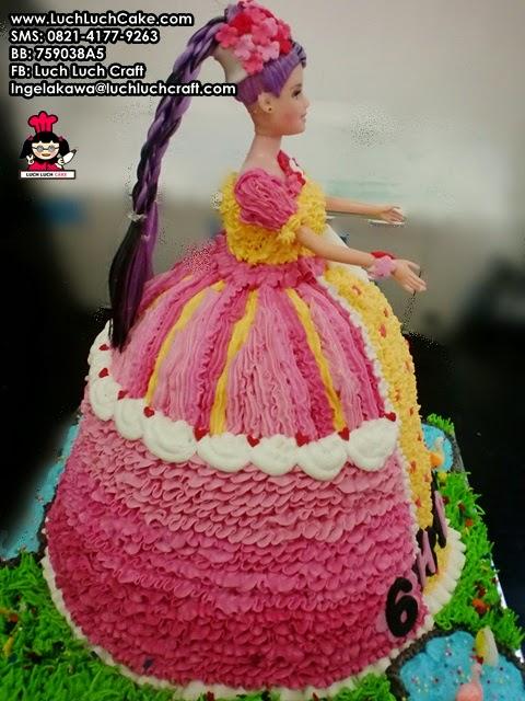 kue tart 3d boneka putri