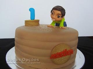 bolo forma bolacha maria doces opções
