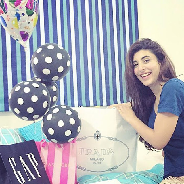 Urwa Celebrates Birthday with Farhan Saeed and siblings 2015