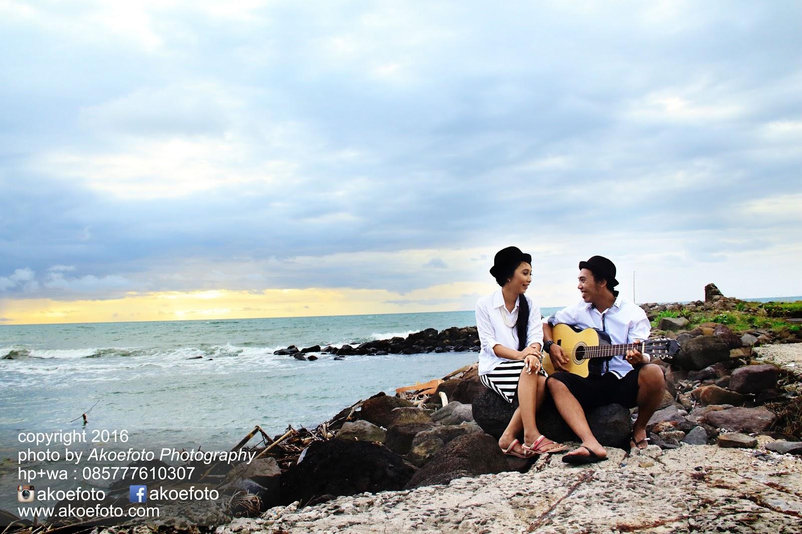 Prewedding Di Pantai Anyer Karang Bolong Okky Shelly Akoe Foto