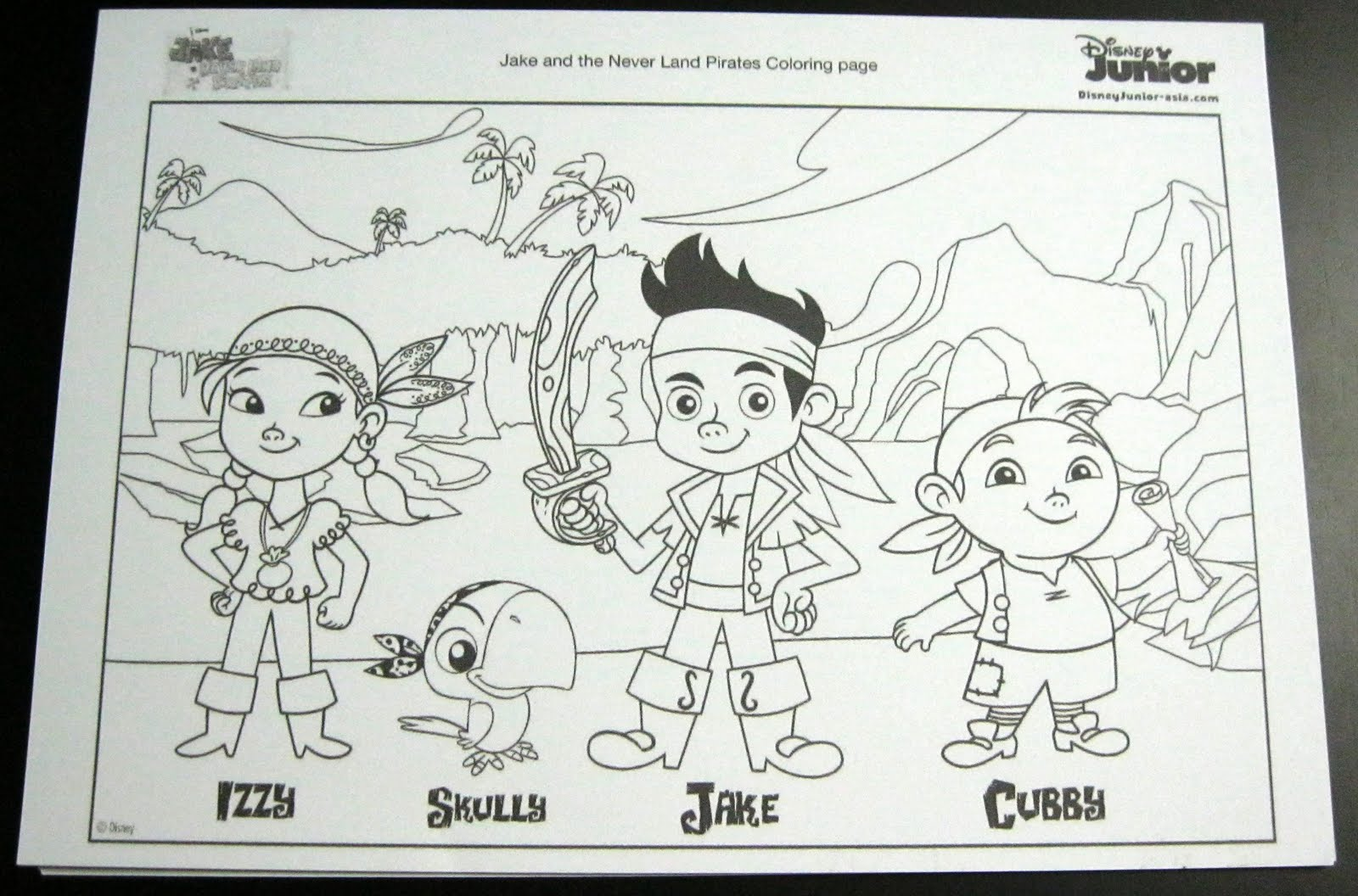 jake and the neverland pirates coloring page coloring pages gallery