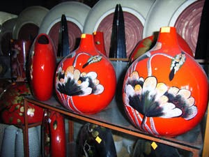 Ceramic vases at Bát Tràng