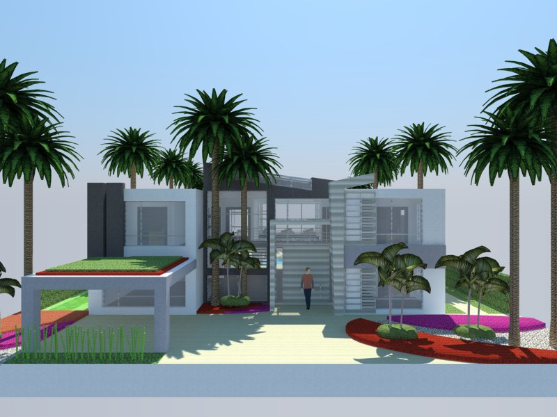 3d modern sketchup house design portfolio website for Modern house website