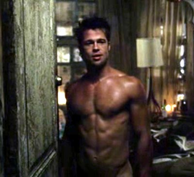 Latest Hollywood Hottest Wallpapers: Brad Pitt Abs Fight Club