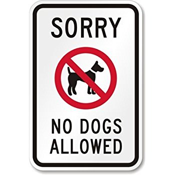 Dogs no longer allowed at events!