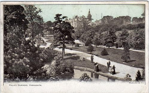 Vintage postcard of Valley Gardens, Harrogate, Yorkshire