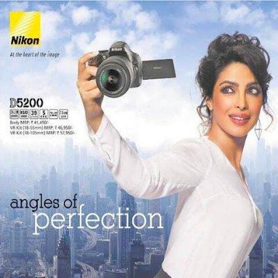 Priyanka Chopra's Print AD for Nikon