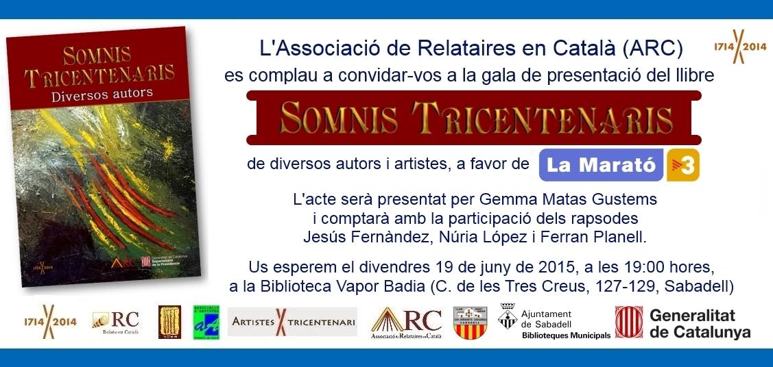 Invitació Somnis Tricentenaris (Diversos autors)