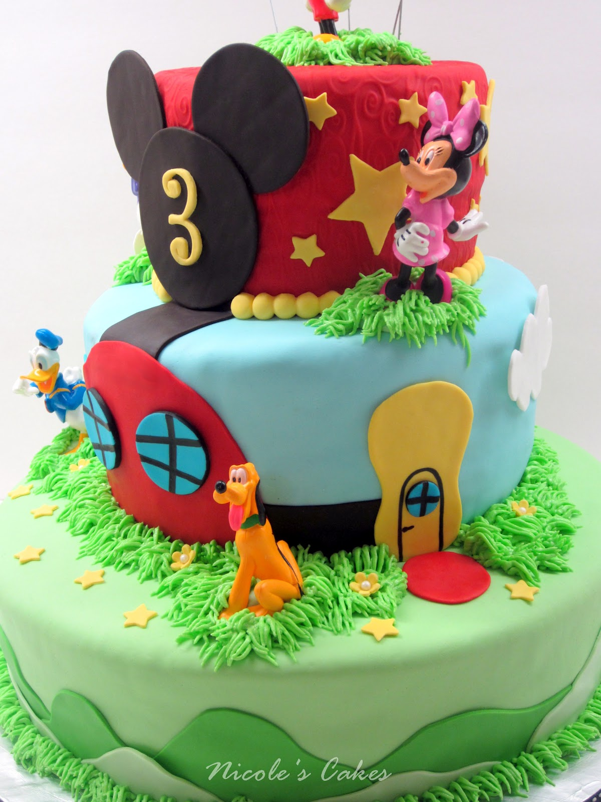 On Birthday Cakes Mickey Mouse Clubhouse 3 Tier Cake