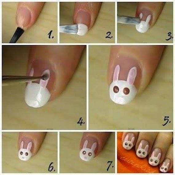 Uñas Pintadas, Diseño Conejo de Pascua