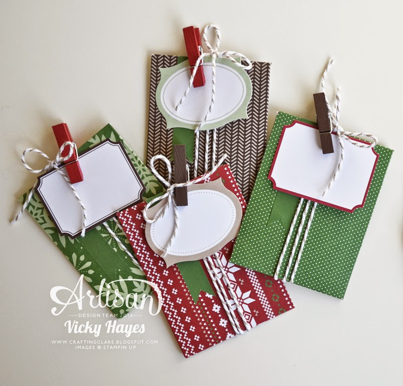 Stampin' Up's trim the Tree designer paper is available to buy online in a handy card size stack