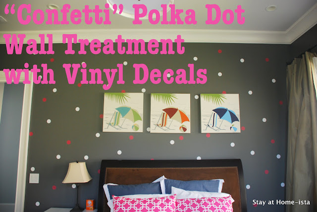 Confetti Polka Dot wall treatment with vinyl decals
