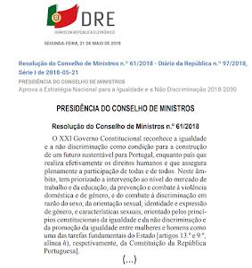 «ESTRATÉGIA NACIONAL PARA A IGUALDADE E A NÃO DISCRIMINAÇÃO 2018-2030»