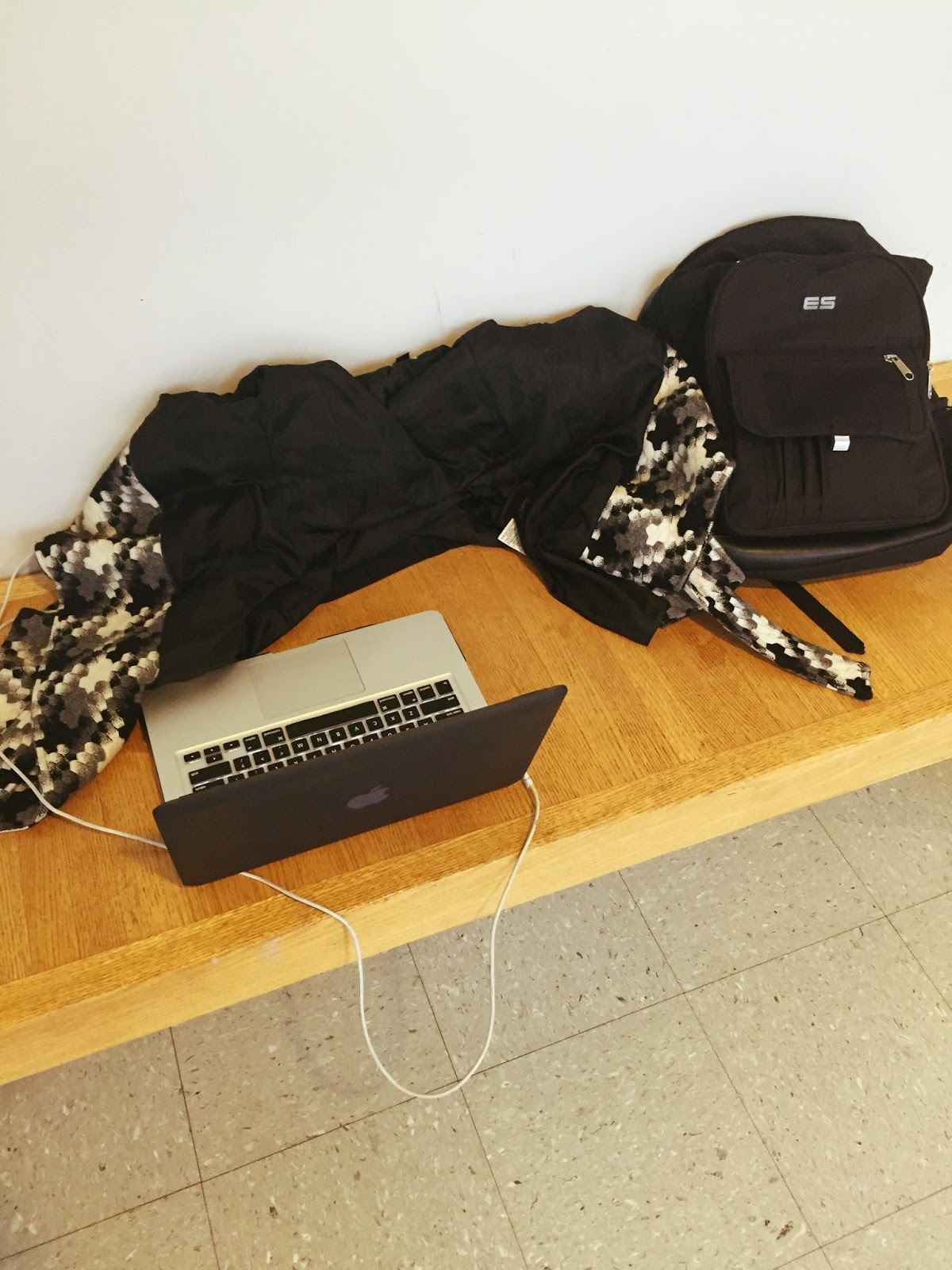computer-and-coat-bench