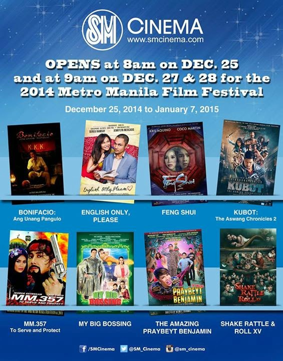 SM Cinema opens at 8am on December 25