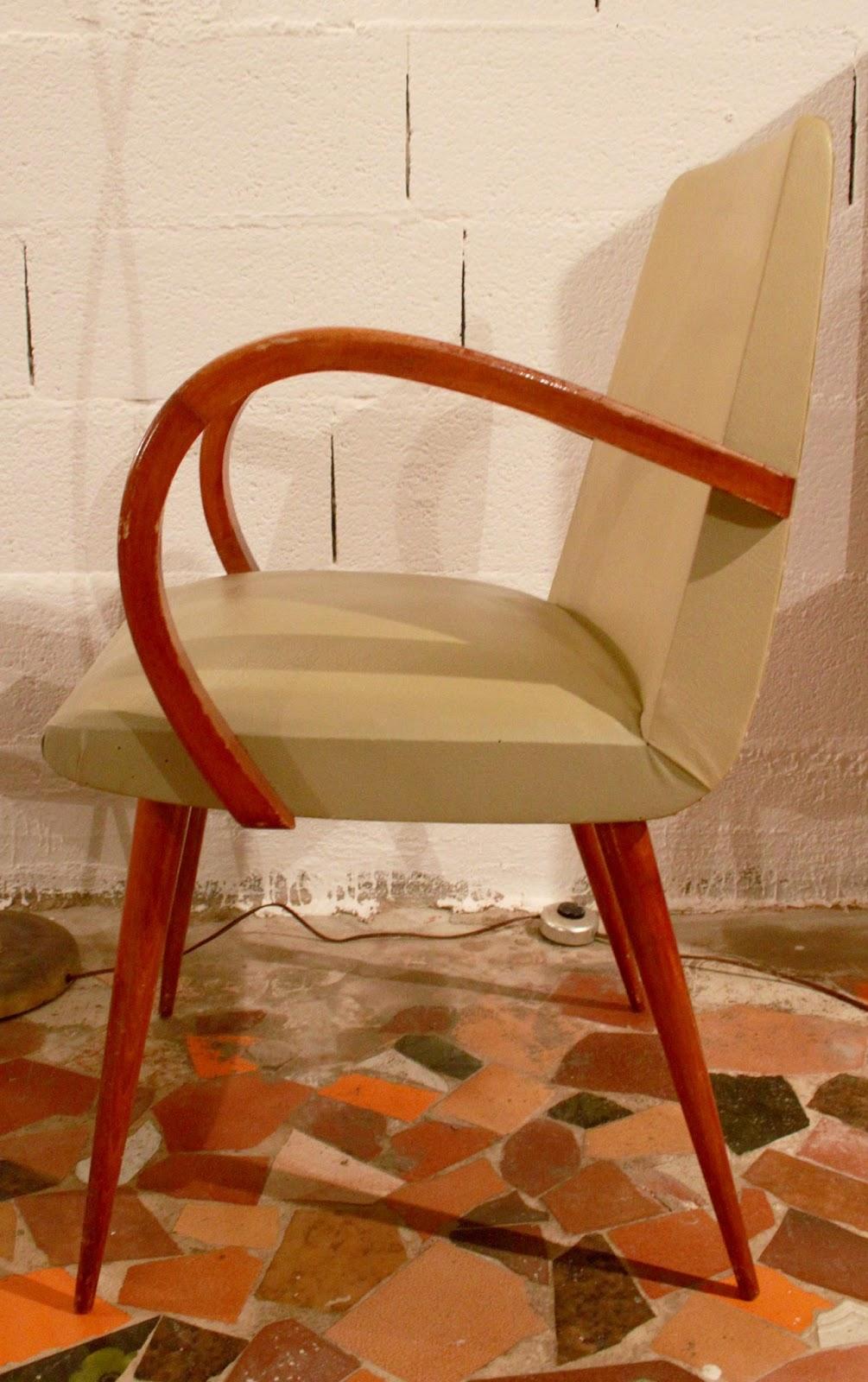 Chicbaazar objets vintage 50 60 70 fauteuil 50 60 - Miroir chaty vallauris prix ...