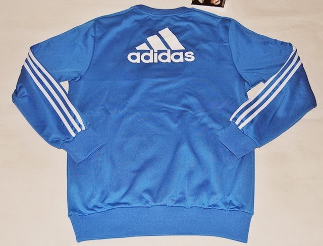 Sweater Bola GO Training Real Madrid Blue 2014 Terbaru Big Match Jersey