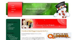plantilla para blogger de navidad
