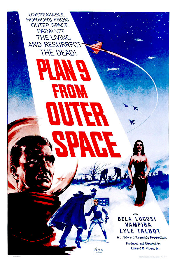 Mills movie poster vault plan 9 from outer space for Outer space movies
