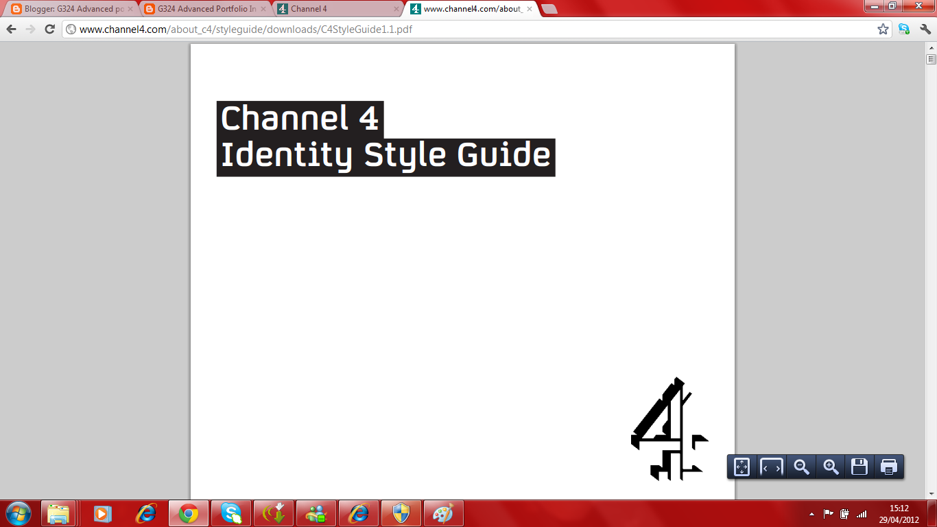 I used YouTube to find the Channel 4 ident with no voice over which we wanted to go at the beginning of our documentary in order to make it look real.