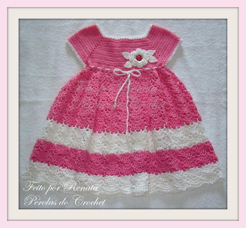 Ажурное детское платье крючком схемы