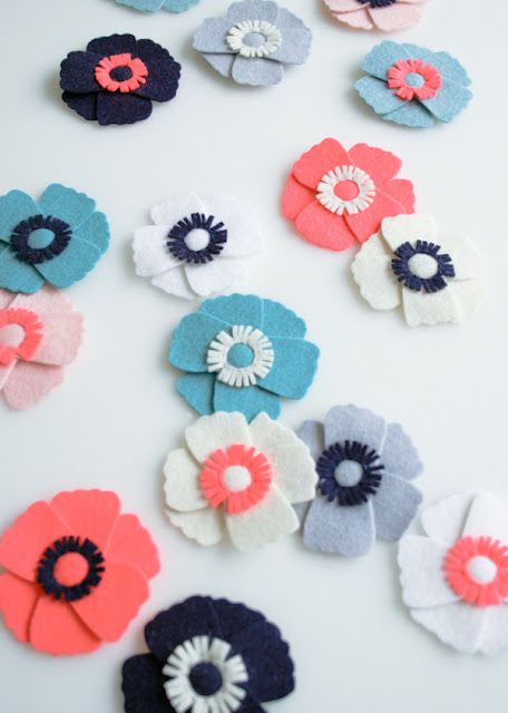 felt flower tutorial, purl bee