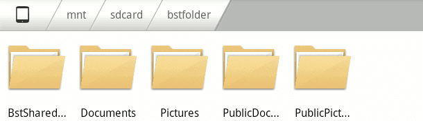 browse to shared folders
