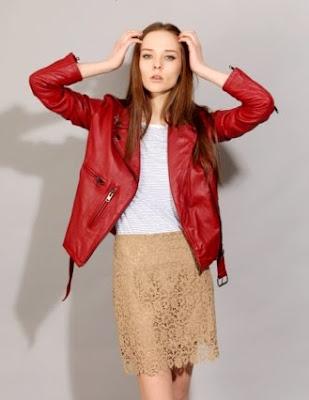 Tan Lace Skirt