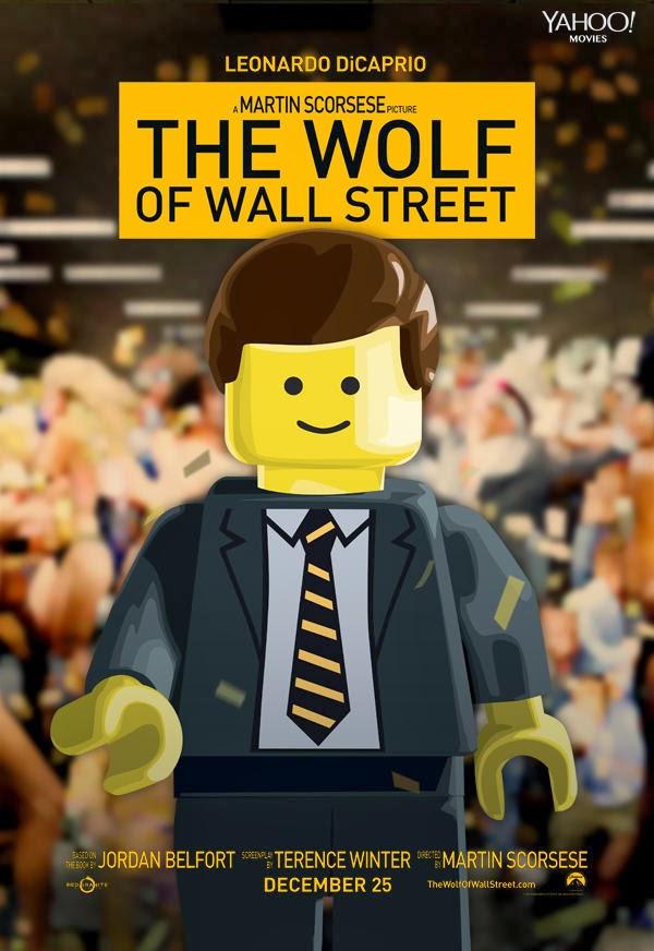 Poster Lego - El Lobo de Wall Street
