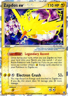 Zapdos EX FireRed and LeafGreen Pokemon Card Set