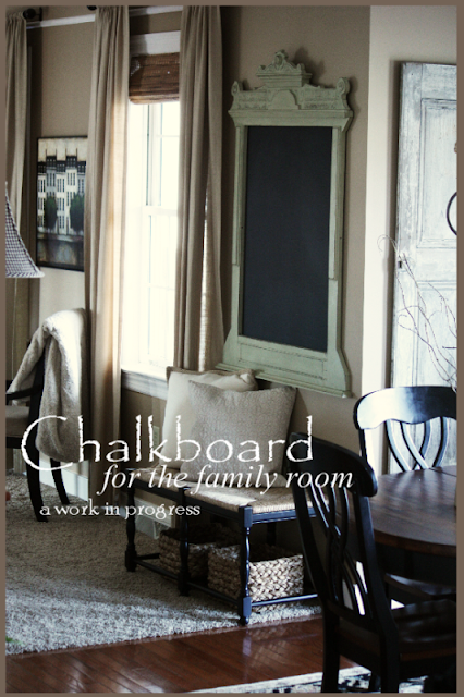 StoneGable: CHALKBOARD IN THE FAMILY ROOM
