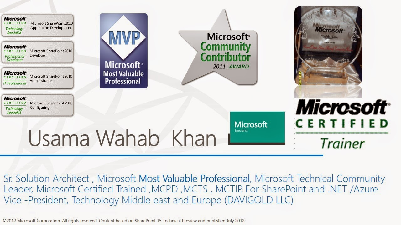 Usama wahab khanwelcome to usama wahab khan learn free great to sharepoint geeks in dubai and share my experience with them wasi khan also share real life business and technical problem that usually developers 1betcityfo Choice Image