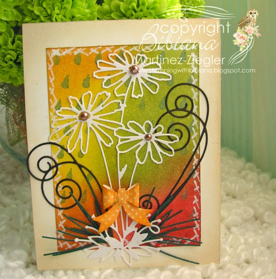 daisies fall card front